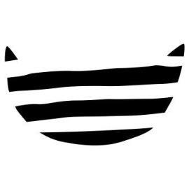 デザインtシャツ ボーダー猫 デザイン画