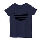 デザインtシャツ ボーダー猫 女性用