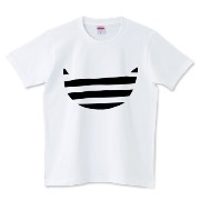 デザインTシャツ ボーダー猫