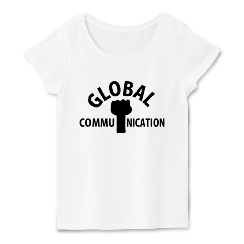 GLOBAL COMMUNICATION​-白t-ladies
