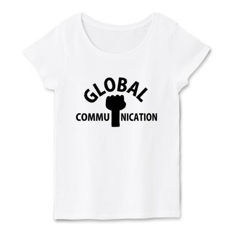GLOBAL COMMUNICATION-白t-ladies