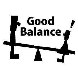 ロゴT「GoodBalance」黒文字