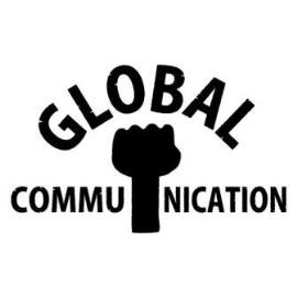 ロゴT「globalcommunication」黒文字