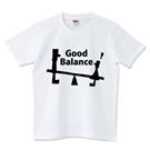ロゴT「GoodBalance」黒文字半袖
