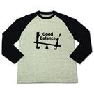 ロゴT「GoodBalance」黒文字ラグラン長袖