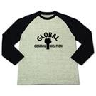 ロゴT「globalcommunication」ラグラン長袖