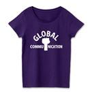 ロゴT「globalcommunication」半袖女性