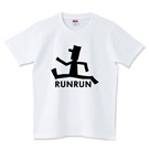 ロゴT「RUNRUN」黒文字半袖