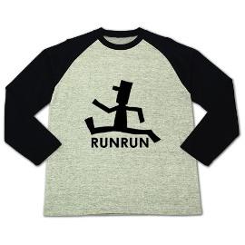 ロゴT「RUN」ラグラン長T