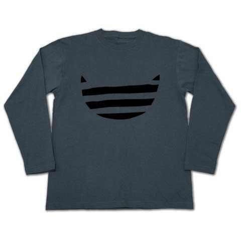 デザインtシャツ ボーダー猫 長t