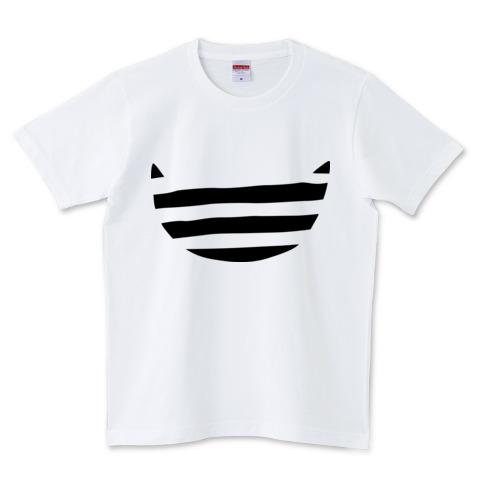 デザインtシャツ ボーダー猫 半袖