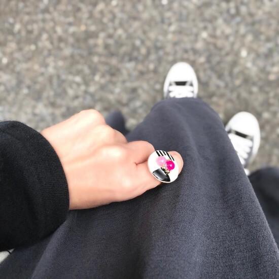 お気に入りの指輪コーデ